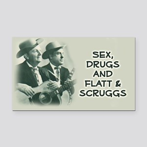 Rectangle Car Magnet: Flatt & Scruggs