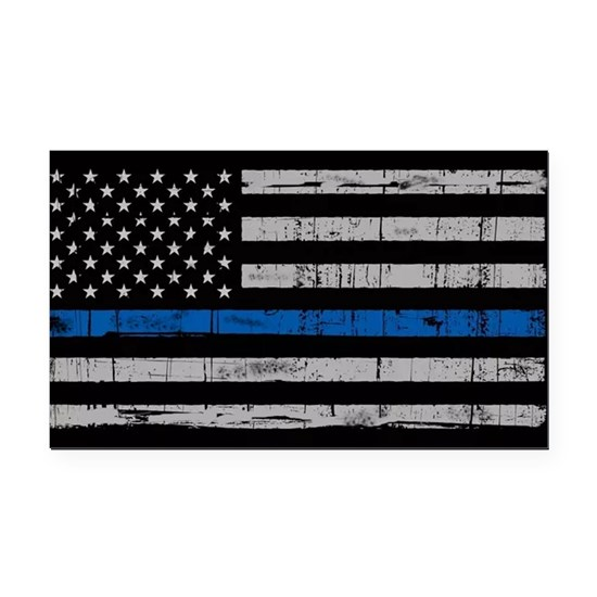 The thin blue line stressed flag