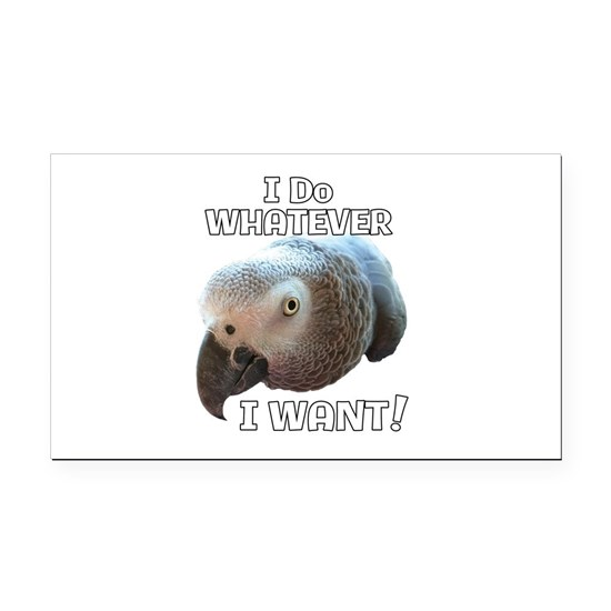 I Do Whatever I Want! African Grey Parrot design