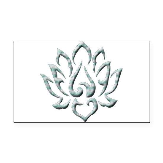 Lotus Flower blue lines