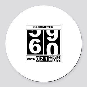 60th Birthday Oldometer Round Car Magnet