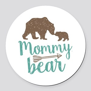 Mommy Bear Round Car Magnet