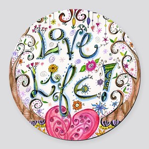 Love Life Round Car Magnet