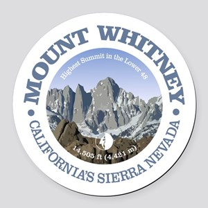Mount Whitney Round Car Magnet