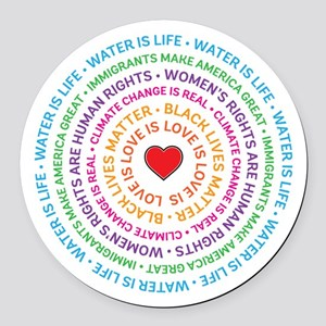 Worth Fighting For Round Car Magnet