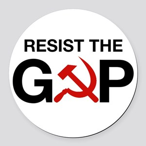Resist The Gop Round Car Magnet