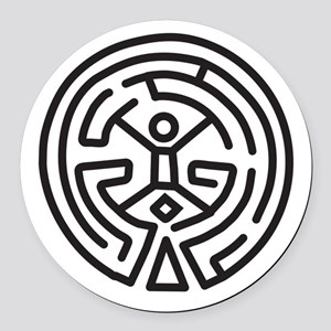 Maze In Westworld Round Car Magnet