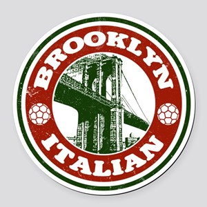 Brooklyn New York Italian Round Car Magnet