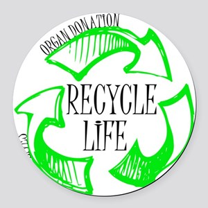 Recycle Life Round Car Magnet