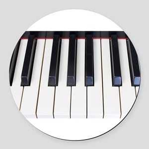 Piano Keys Round Car Magnet