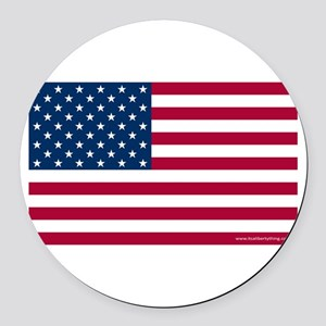 American Flag Round Car Magnet