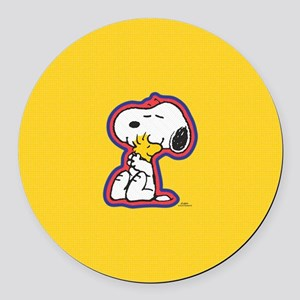Peanuts Flair Snoopy  Round Car Magnet