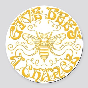 bees-chance2-DKT Round Car Magnet