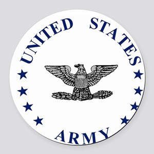 ArmyColonel2 Round Car Magnet