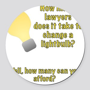 Lawyer lightbulb joke Round Car Magnet