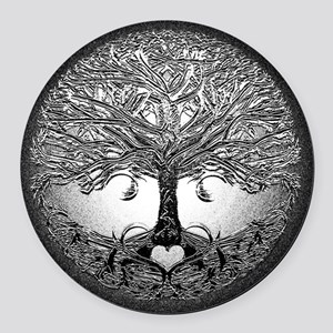 Tree of Life Bova Round Car Magnet