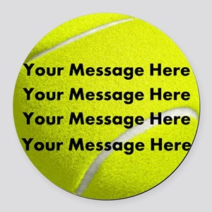 Personalize It, Tennis Ball Round Car Magnet