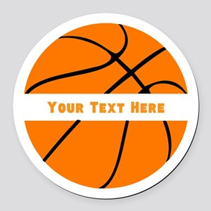 Basketball Personalized Round Car Magnet