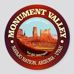 Monument Valley Round Car Magnet