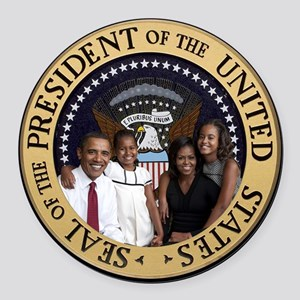 First Family Round Car Magnet