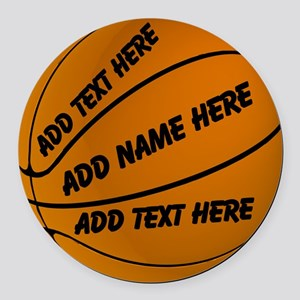 Personalized Basketball Round Car Magnet