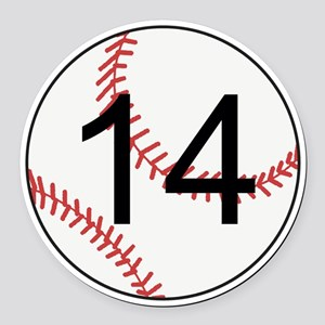 Custom Baseball Round Car Magnet