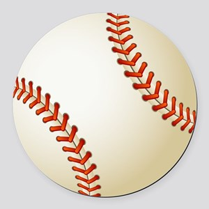 Baseball Ball Round Car Magnet