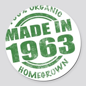 Made in 1963 Organic Round Car Magnet