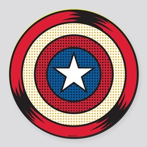 Captain America Comic Shield Round Car Magnet