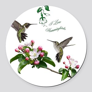12 X hummingbirds Round Car Magnet