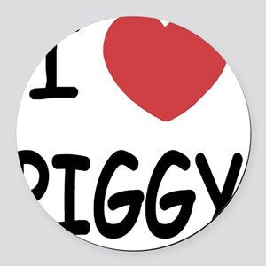 PIGGY01 Round Car Magnet