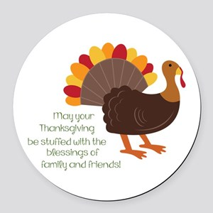 May Your Thanksgiving Round Car Magnet
