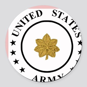 ArmyMajor Round Car Magnet