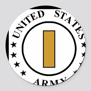 ArmySecondLieutenant Round Car Magnet