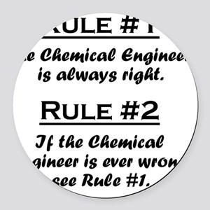 Rule Chemical Engineer Round Car Magnet