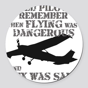 Old Pilots AI  Round Car Magnet