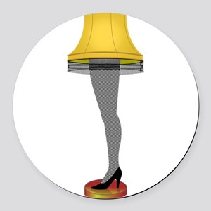 leg lamp Round Car Magnet