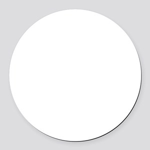 Fragile Leg Lamp Round Car Magnet