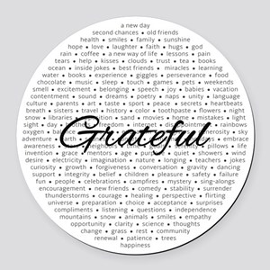 Grateful For... Round Car Magnet