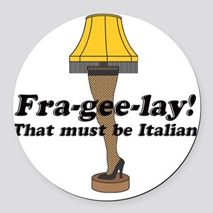 fragelee-Leg_Lamp Round Car Magnet