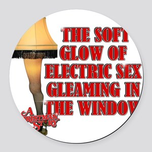 Electric Sex Round Car Magnet