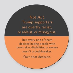 Trump Supporters Round Car Magnet