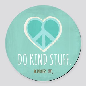 Kindness U Round Car Magnet