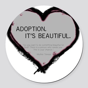 adoption beautiful 2 Round Car Magnet