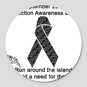 Infection Awareness Day Round Car Magnet