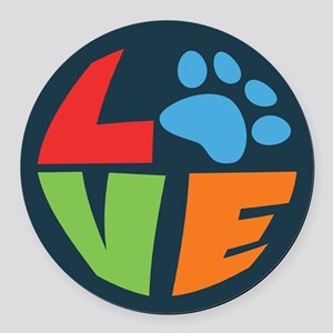 L(paw)VE Round Car Magnet