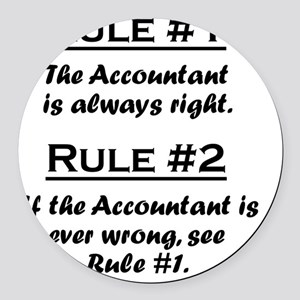 Rule Accountant Round Car Magnet