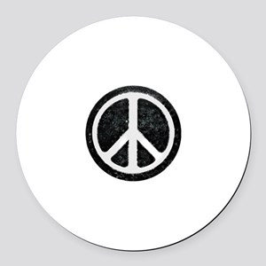 Original Vintage Peace Sign Round Car Magnet