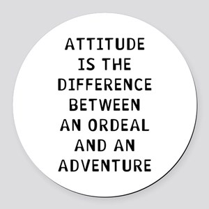 Attitude Difference Round Car Magnet