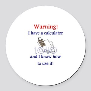 Accountant Round Car Magnet